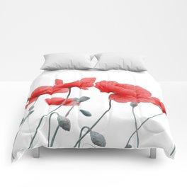 poppy in love Comforters