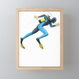 Diver Sprinter track and field sprint runner  sport Framed Mini Art Print
