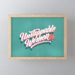 Unstoppable Women Framed Mini Art Print