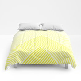 Shades of Yellow Abstract geometric pattern Comforters