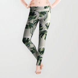 Cat and Plant 11 Pattern Leggings