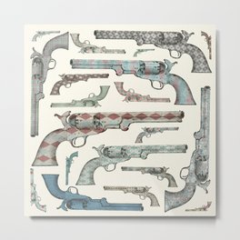 My vintage collection of pistols Metal Print