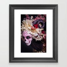 April Blossom Muertita Side Framed Art Print