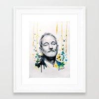 bill murray Framed Art Prints featuring Bill Murray by Denise Esposito