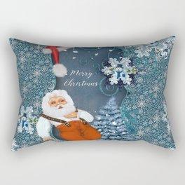 Funny Santa Claus with snowman Rectangular Pillow