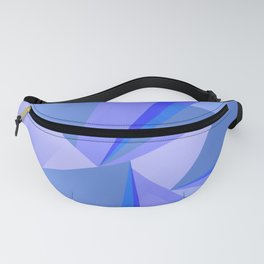 Blue Crystals Abstract Fanny Pack