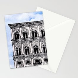 PALAZZO IN ROMA AND CLOUDY SKY Stationery Cards