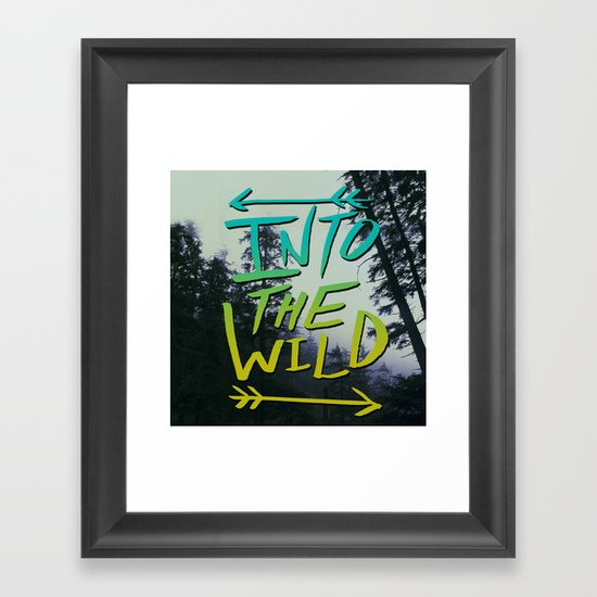 Into the Wild IV Framed Art Print