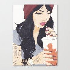 Coffee Girl Canvas Print