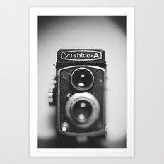 Yashica-A black and white Art Print