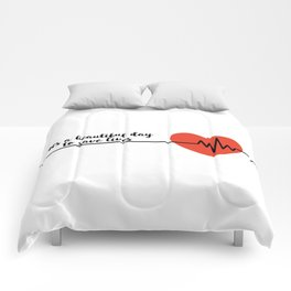 It's a beautiful day to save lives Derek Shepard Quote Greys Anatomy Comforters