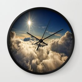 clouds (Above The Heavenly Clouds) Wall Clock