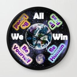Advent Guard Earth We All Win Wall Clock