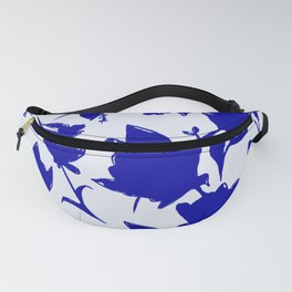 Floral Blue Shadow Fanny Pack