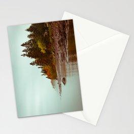 larsmont lake superior foggy morning Stationery Cards