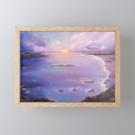 Setting Sun Framed Mini Art Print
