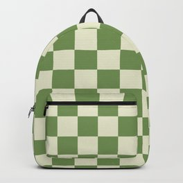 green chess - green and white Backpack