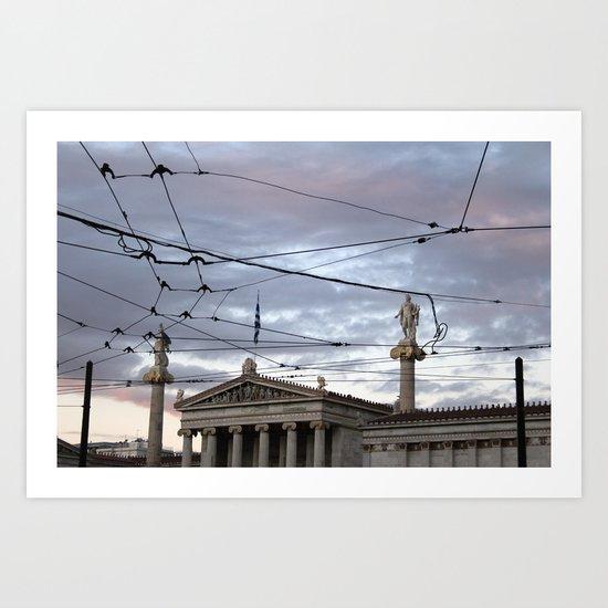 Wired Sky Art Print