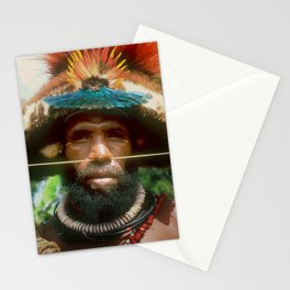 Global Citizen: Papua New Guinea Villager With Headdress Stationery Cards