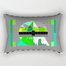 Waiting for the show to begin (Test Pattern 3) Rectangular Pillow