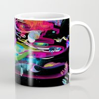 archan nair Mugs featuring Bottle Full of Wonder Tree Oil by Archan Nair