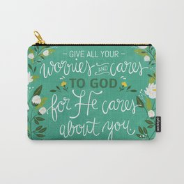 1 Peter 5:7 NLT Carry-All Pouch