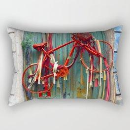 Bicycle Door, Montevideo,Uruguay Rectangular Pillow