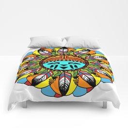 Hopi Sunshine Girl by Amanda Martinson Comforters