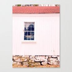 White Barn Window Canvas Print
