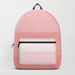 Pastel Paradise Pink Stripe Backpack