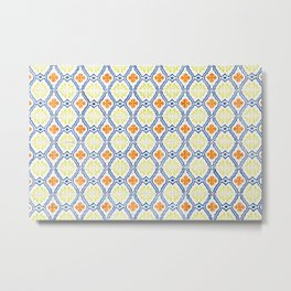 Happy Portuguese Tiles Metal Print