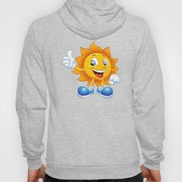 smiling sun cartoon Hoody
