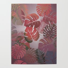 Tropical Autumn Leaves Poster