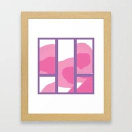 Expressive Windows of Purple Framed Art Print