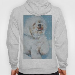 Bichon Frise dog art Fine Art Dog Painting by L.A.Shepard Hoody