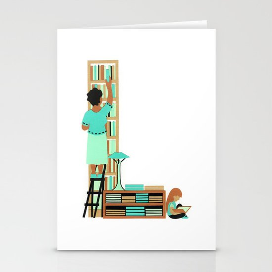 L as Libraire (Bookseller) Stationery Cards