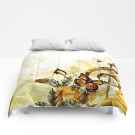 Butterfly Music Notes Comforters