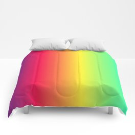 rainbow abstract Comforters