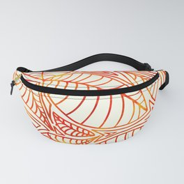Bright and Summery Leaf Lines Fanny Pack