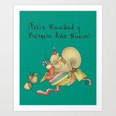 Navidad Art Print