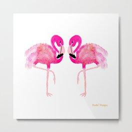 Go-Go Flamingo Metal Print