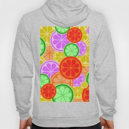 Citrus Explosion - A Pattern of Many Fruits from the Citrus Family Hoody