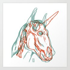 Unicorn Xray Art Print