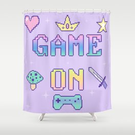 Game On (pastel) Shower Curtain