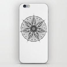 XMAS Mandala - grey iPhone & iPod Skin