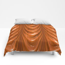 Decadent drapery,orange Comforters