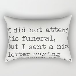 M. Twain quote Rectangular Pillow