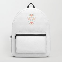 Sugar Skull With Butterfly Halloween Mexican Gift Backpack