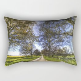 The Summer Farm Track Art Rectangular Pillow