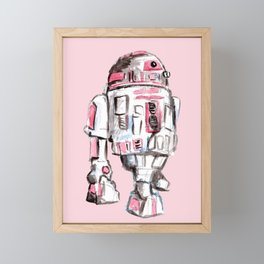 Pink Robot Framed Mini Art Print